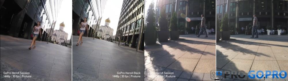 Сравнение видео снятого на sesion и hero4 black