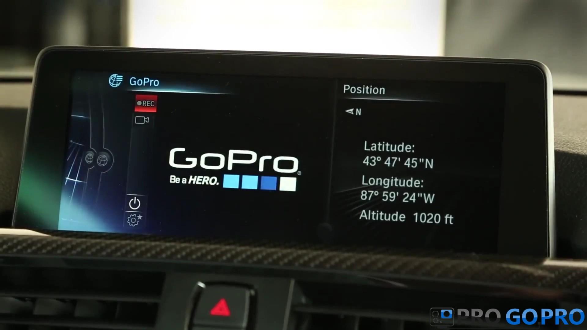 Монитор BMW с приложением GoPro app
