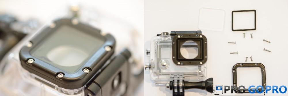 разборка корпуса камеры для установки фильтра поляризации
