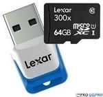 Карта памяти Lexar 64GB SDXC 300x (Model No. LSDMI64GBBNL300R)