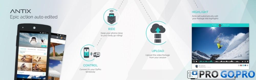 Приложение Antix для камер GoPro