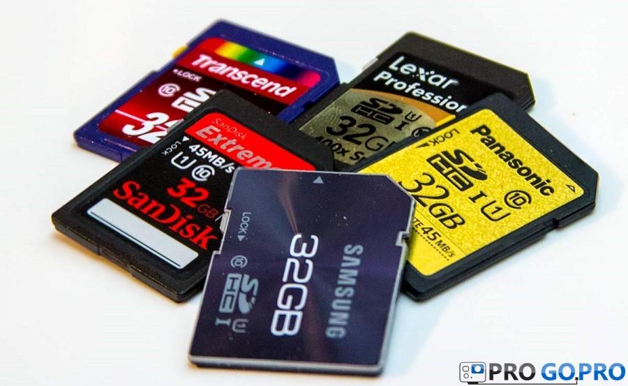 Рекомендуемые карты памяти для камер GoPro HERO3+ и GoPro HERO3 black