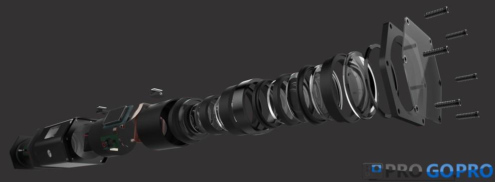 GoPro Hero Voyager в разобранном виде