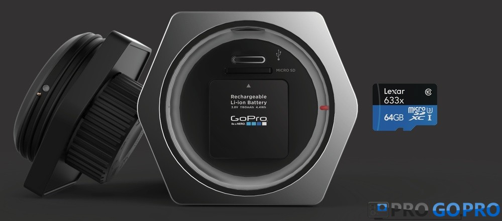 GoPro Hero Voyager отсек для карты памяти