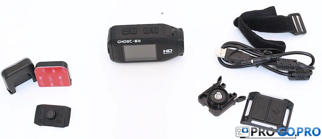 Комплектация камеры Drift Ghost-S