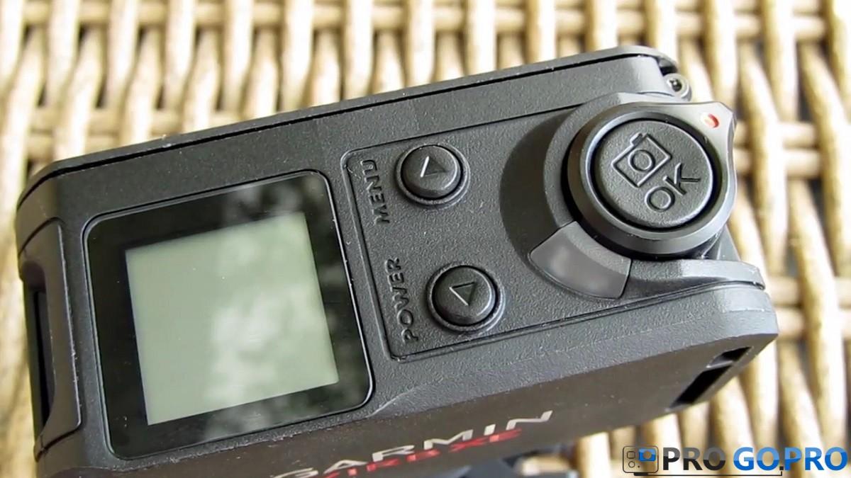 Кнопки навигации камеры Garmin Virb XE