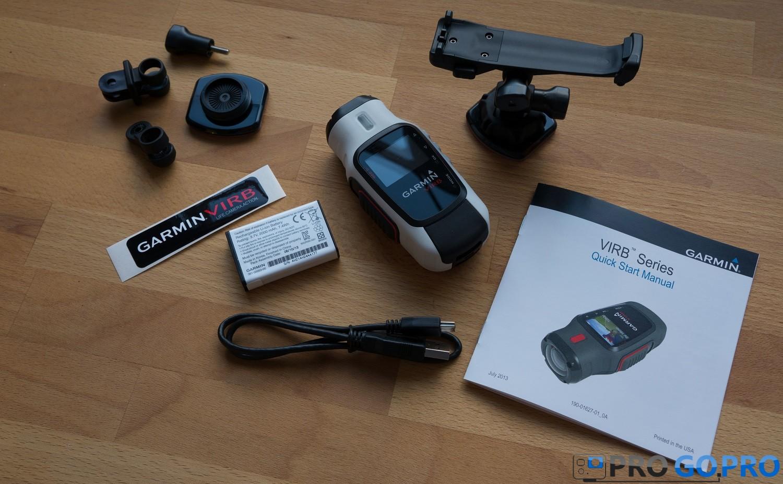 Комплектация камеры Garmin VIRB Elite