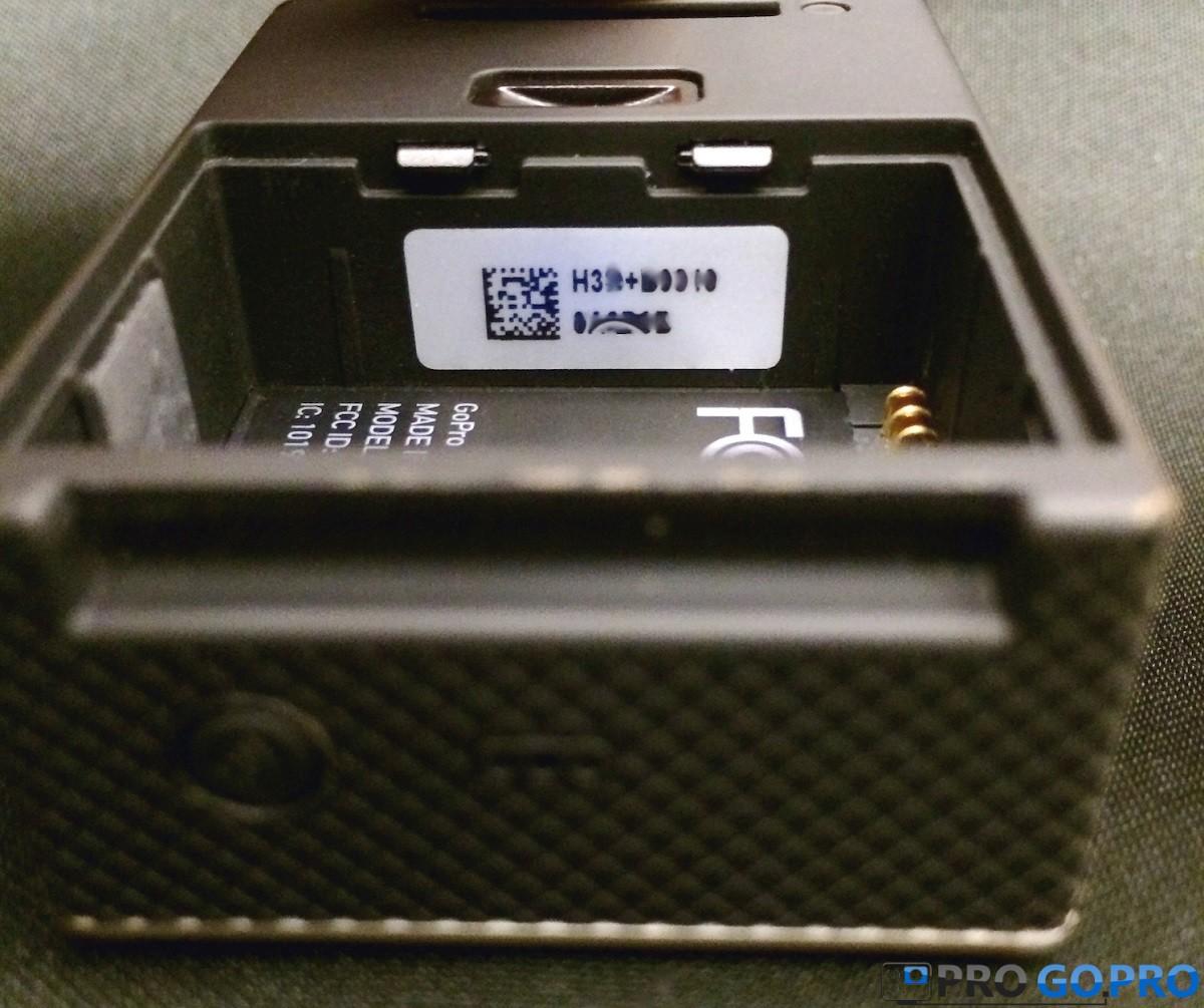Серийный номер на камерах GoPro HERO3+ silver и black