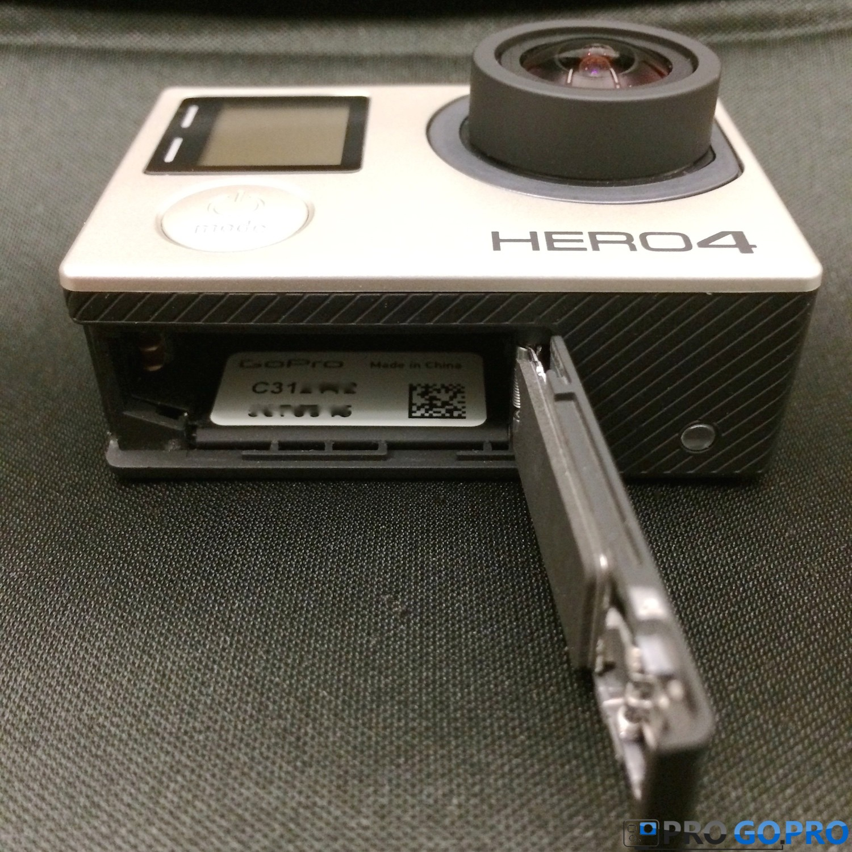 Серийный номер на экшн камере GoPro Hero4