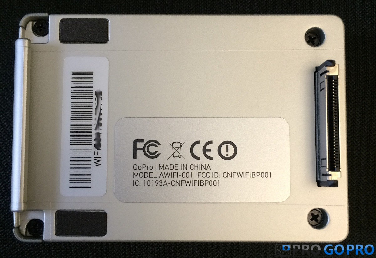 Серийный номер на  Wi-Fi BacPac