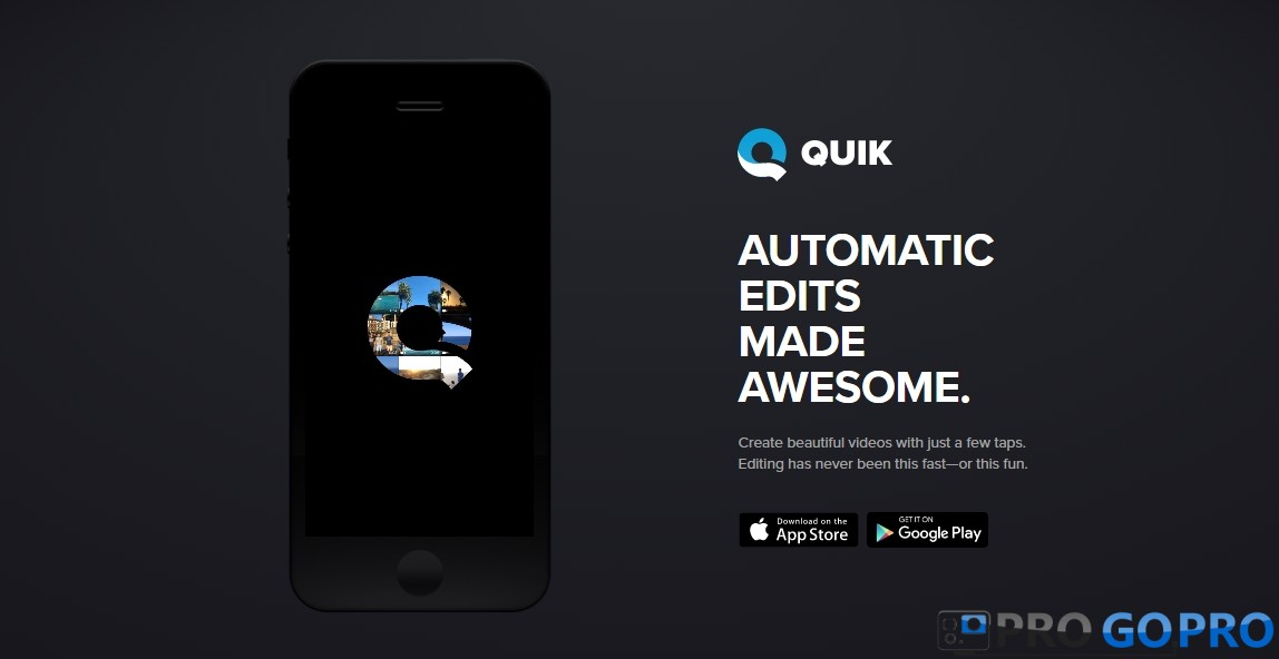 Quik™ - приложение для GoPro