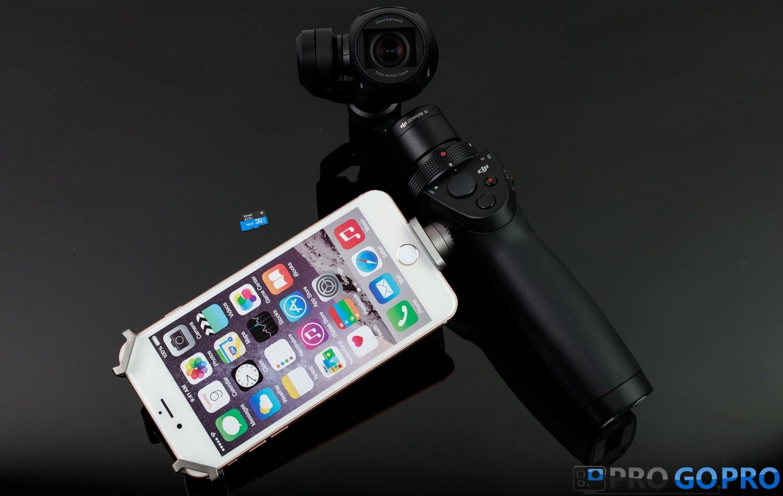 Обзор DJI Osmo управление через смартфон