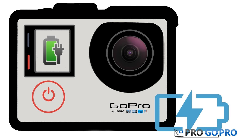 как заряжать камеру GoPro