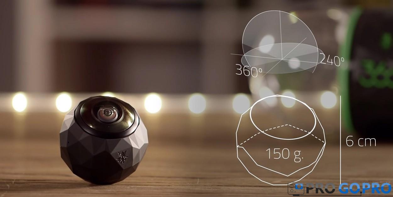 угол обзора, вес и габариты камеры 360fly