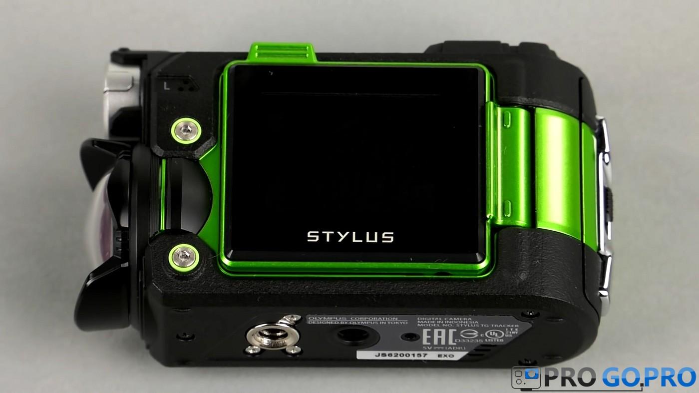 Дисплей экшн камеры Olympus TG-Tracker