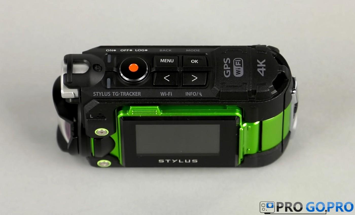 Кнопки управления экшн-камерой Olympus TG-Tracker