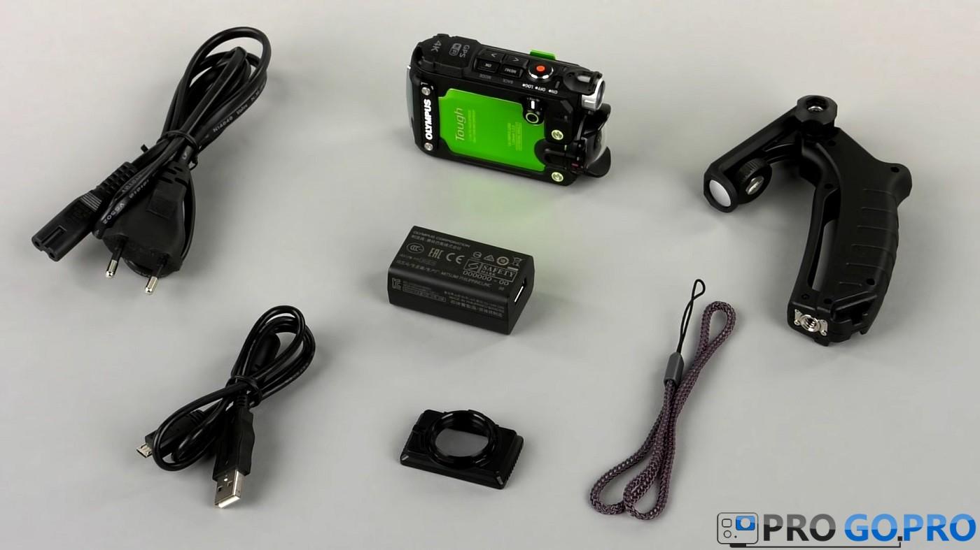 Комплект поставки экшн камеры Olympus TG-Tracker