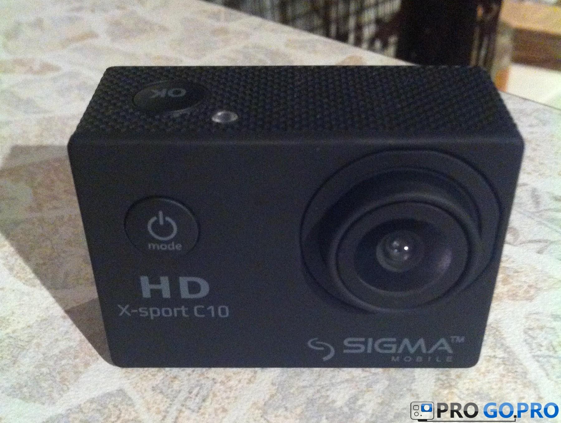 Отзыв об экшн камере Sigma mobile X-sport C10