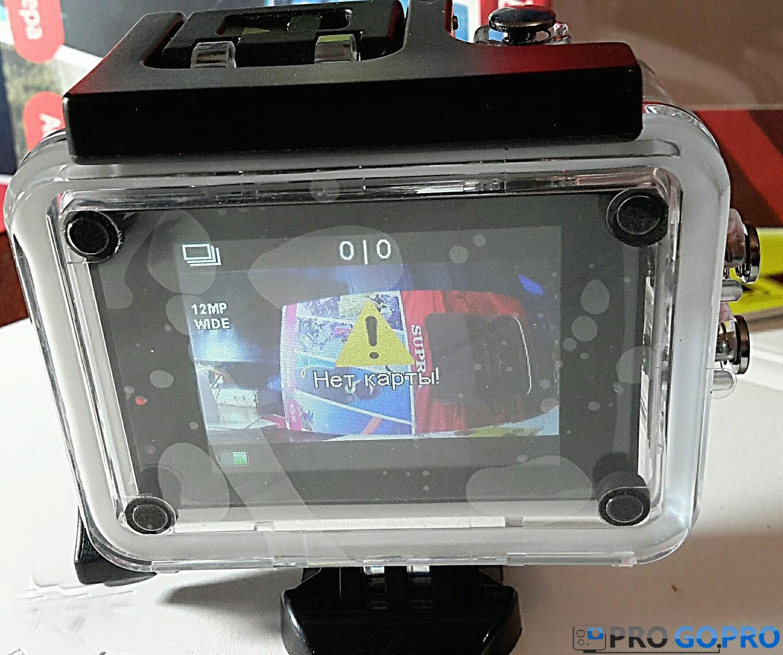 Отзыв об экшн-камере Supra ACS-10 экран